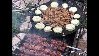 Как приготовить требуху, требуха на садже, шашлык, рубец, коровий желудок, рецепт от Рината