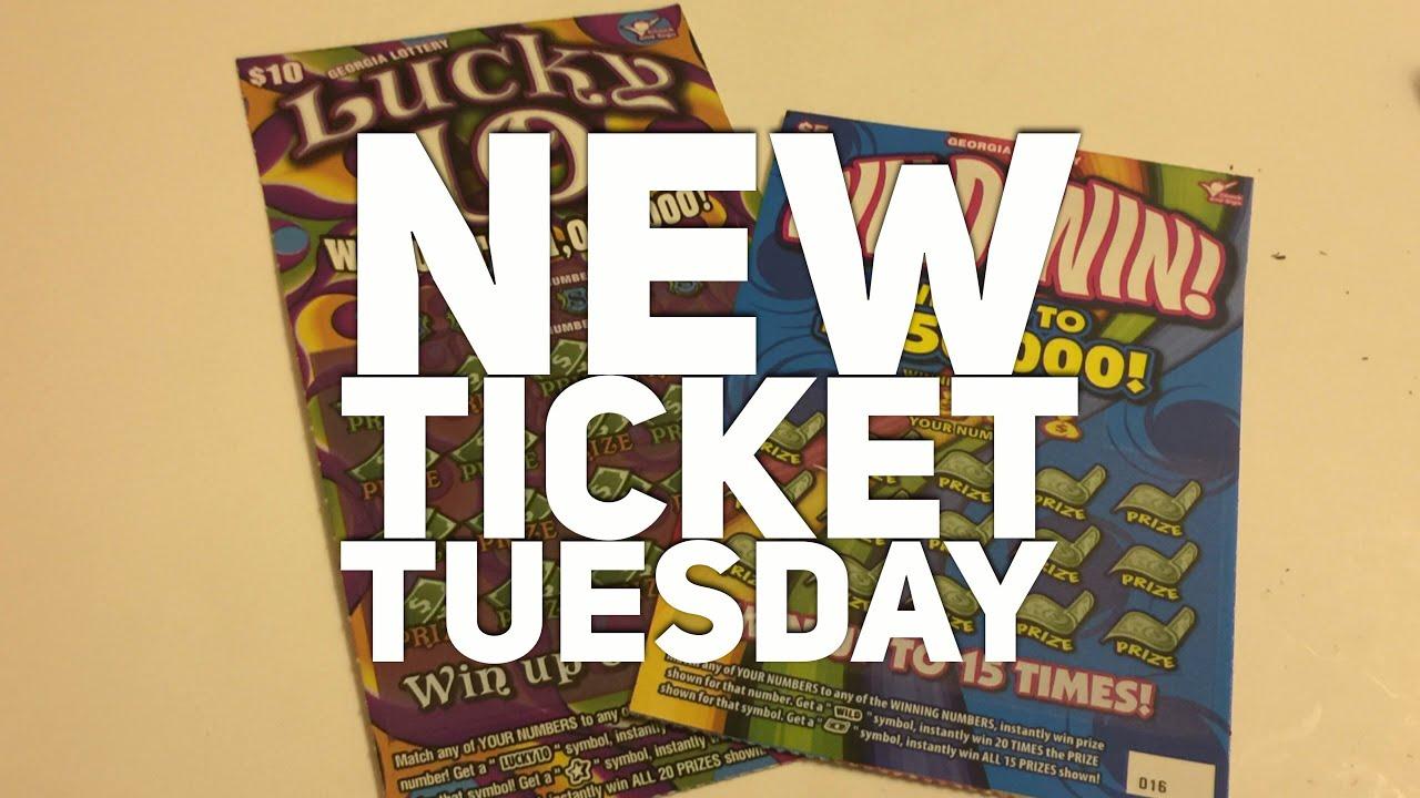 New Ticket Tuesday!!! Georgia Lottery: $5 Wild Win & $10 Lucky 10