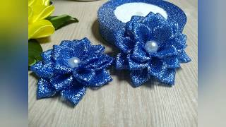 Новогодние украшения/простой цветок/для начинающих/Christmas decorations /simple flower