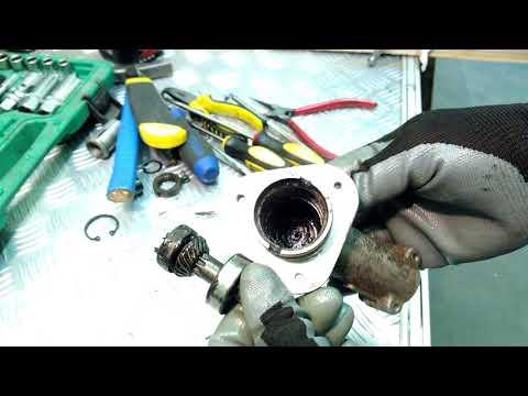 Ремонт редуктора электротримера- не крутится нож и слышно треск