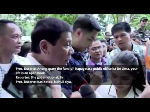 Duterte: I have evidence to back tirades vs De Lima