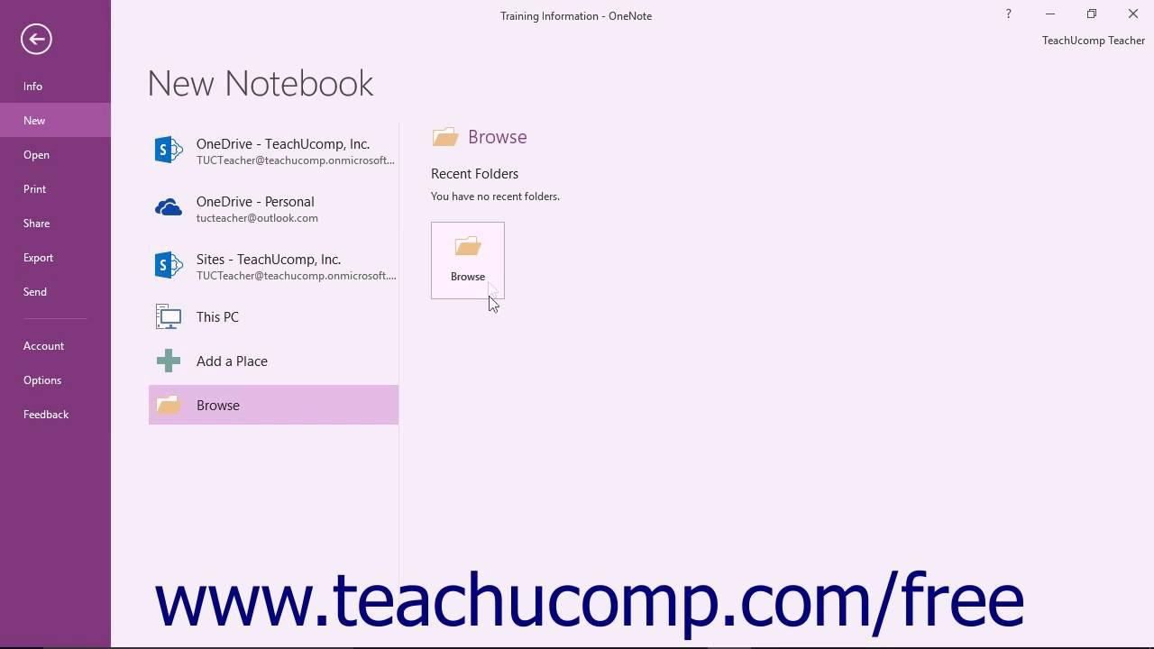 onenote 2016 tutorial creating new notebooks microsoft training