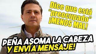 Peña Nieto asoma la cabeza! Envía mensaje a sus excolaboradores desde España