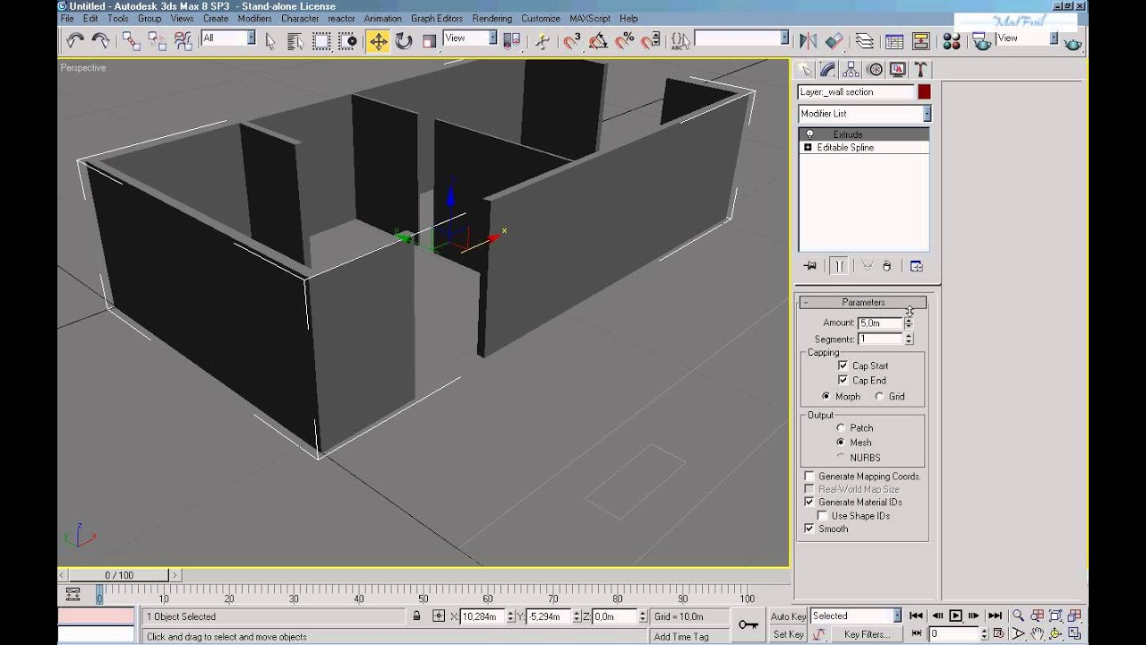 Video corso 3D Studio Max 8 _02 da Autocad a 3DS Max - YouTube