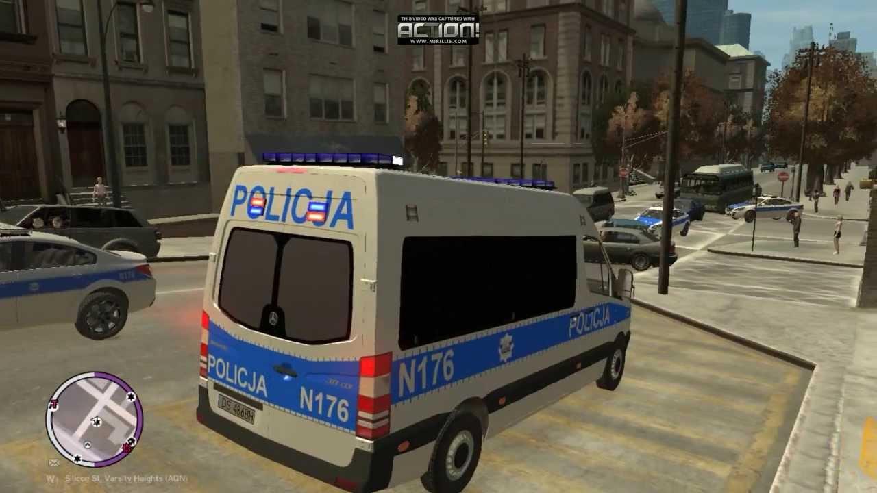 Gta 4 Polska Policja Hd Youtube