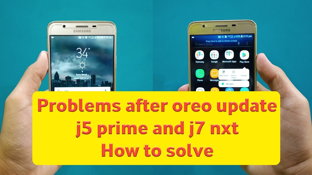 Problems after oreo update in samsung phone Touch issue, fast battery  drain, and more