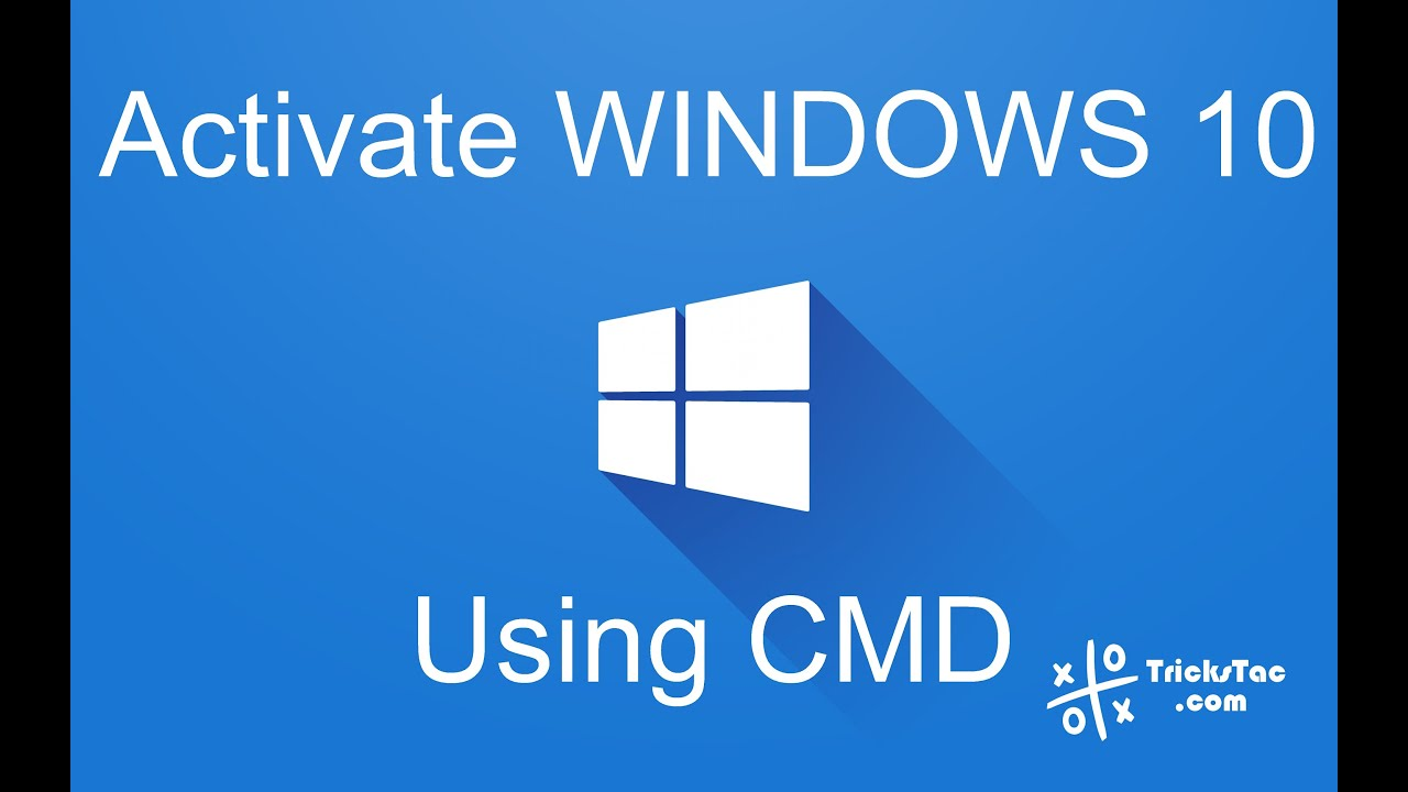 How to activate windows 10 using command prompt cmd youtube ccuart Choice Image