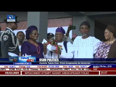 Osun Politics: Oyetola Takes Over From Aregbesola As Governor