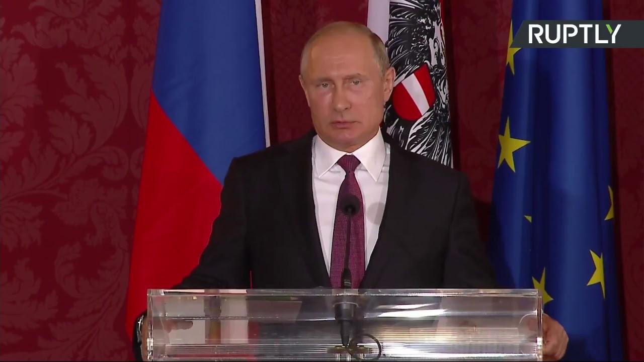 Пресс-конференция Путина и президента Австрии