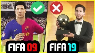 Has FIFA Career Mode Changed In The Last 10 YEARS? (10 Year Challenge - FIFA 09 vs FIFA 19)