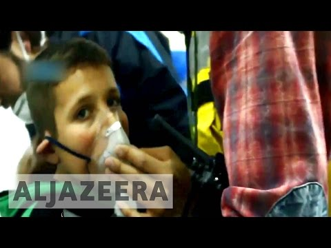 Syria's war: reports on 'Chlorine gas dropped on Idlib town'