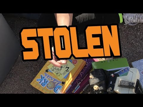 SELLING STOLEN ITEMS AT THE FLEA MARKET??