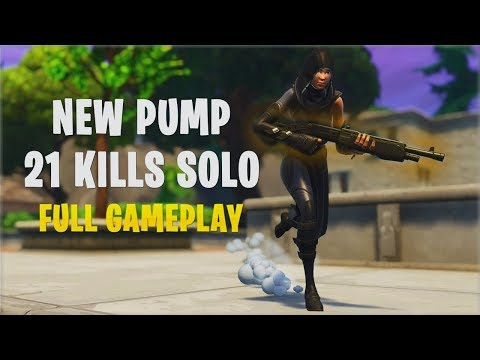 New Pump & Buff - 21 Kills Solo | Console -  Fortnite Gameplay