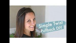 Simple Twist Pullback DIY | Easy Hairstyles | Cute Girls Hairstyles