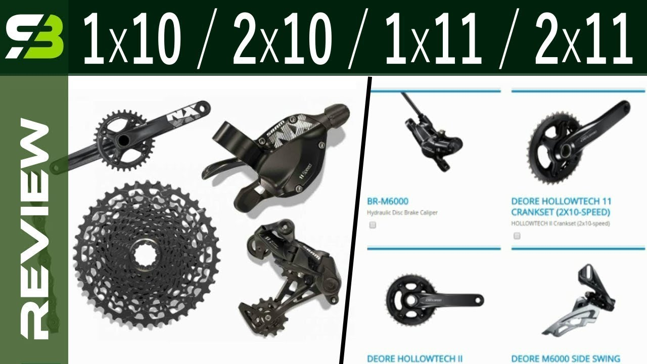 3 Most Affordable Groupsets For REAL Mountain Bikes    1x11, 2x11, 1x10,  2x10