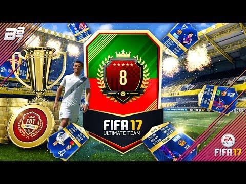 TOTS 99 RONALDO IN A PACK! TOP 10 FUT CHAMPIONS REWARDS!   FIFA 17
