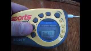 Sony Sports Walkman Armband Radio AM:FM Tuner