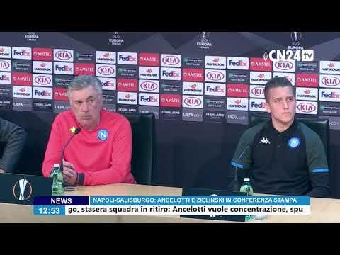 Europa League, Napoli-Salisburgo: Ancelotti e Zielinski in conferenza stampa