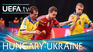 Futsal EURO Highlights: Watch Ukraine win nine-goal thriller(Highlights as Ukraine beat Hungary 6-3 to go through with Dmytro Bondar's goal to make it 2-0 a corker ..., 2016-02-04T23:41:55.000Z)