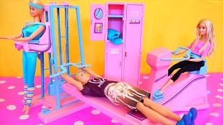 Barbie and Ken Go to the Gym - Barbie Toys With Workout Center Playset and 1983 Workout Barbie
