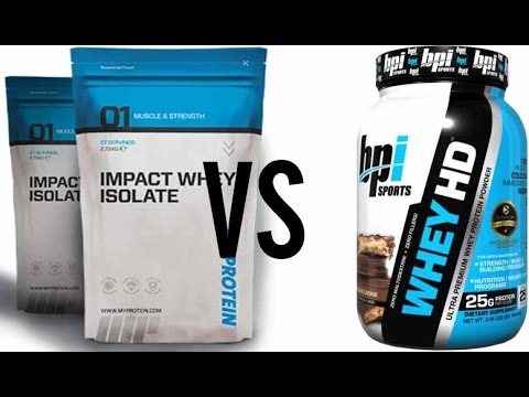 MyProtein Whey Protein VS BPI Whey HD |  SUPPLEMENT REVIEW