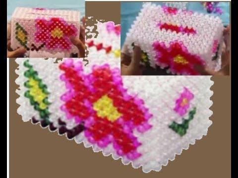 علبه مناديل الورده beaded Tissue Box فيديو صيني )Doha Anwar