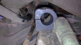Ланос замена втулок (резинок) стабилизатора