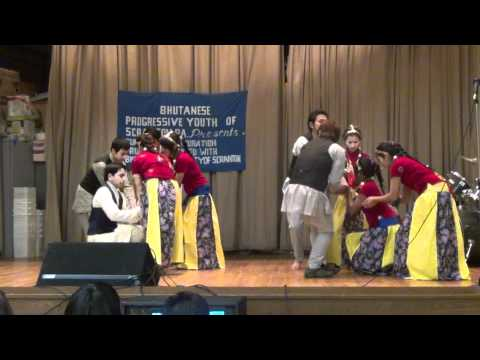 Bhutanese Progressive Youth of Scranton,PA performing dance