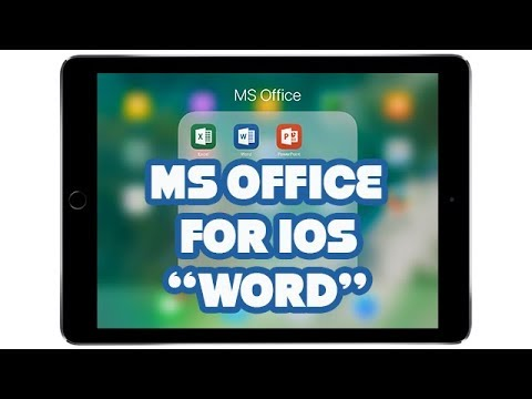 MS Office for iOS | WORD | PART 1 thumbnail