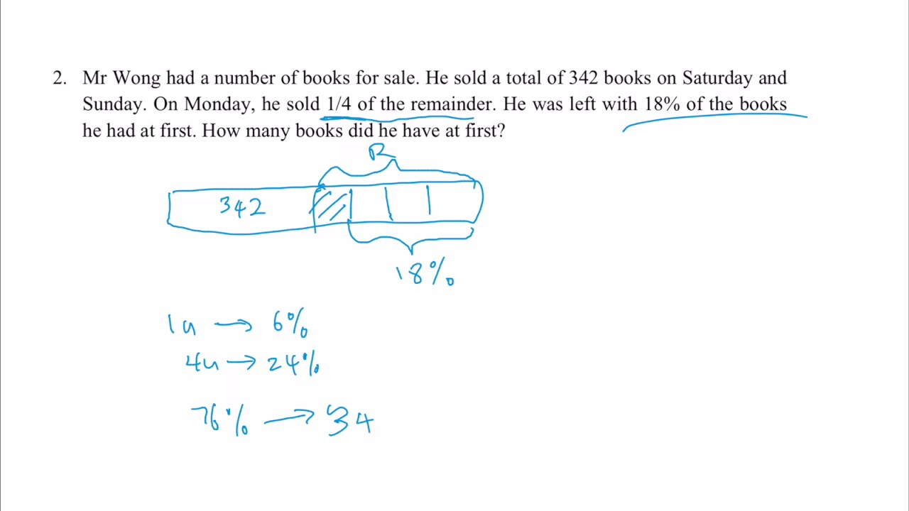 P6 math problem sum - why remainder concept questions are easy peasy ...
