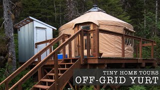 100% Off The Grid Yurt Life In Alaska - Remote Tiny Home Living