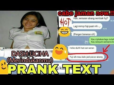 prank text Cabe BiNAL pake lagu Dash Uciha - Merindukanmu