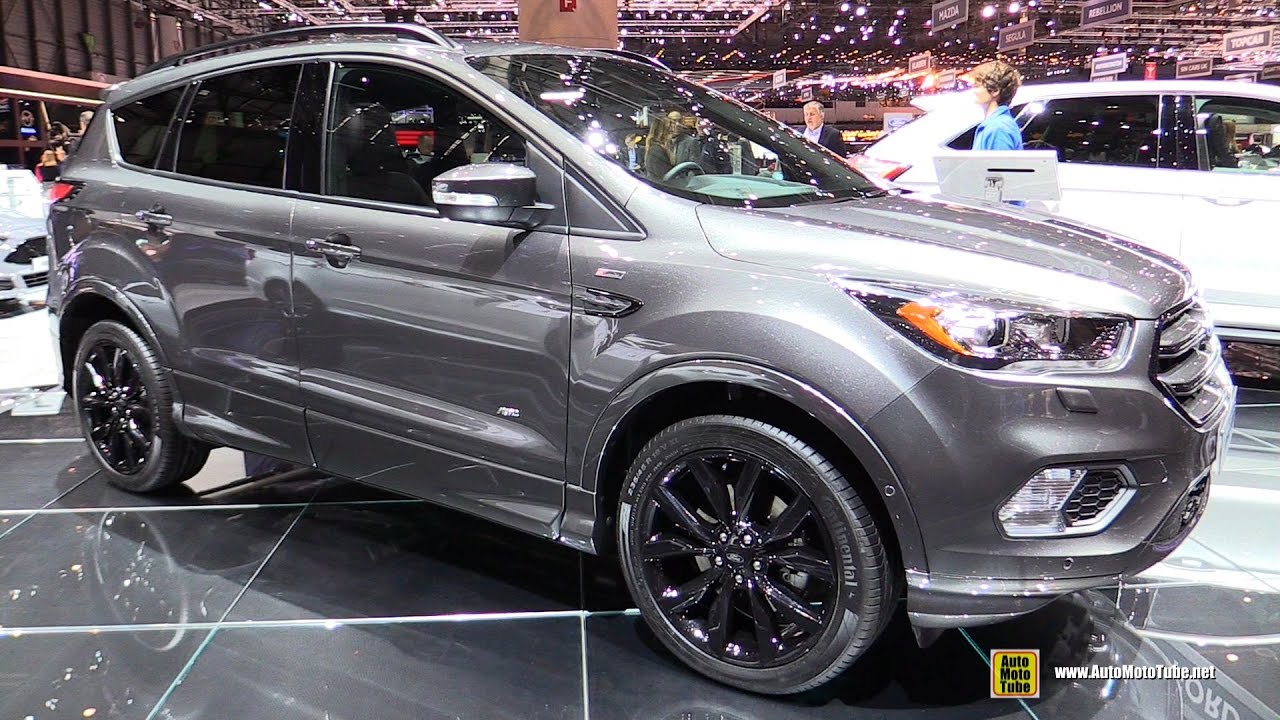2017 ford kuga st line exterior and interior walkaround 2017 geneva motor show youtube. Black Bedroom Furniture Sets. Home Design Ideas