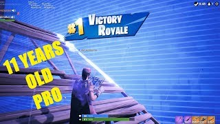 11 YEARS OLD FORTNITE PRO|Random Duo| VICTORY ROYALE