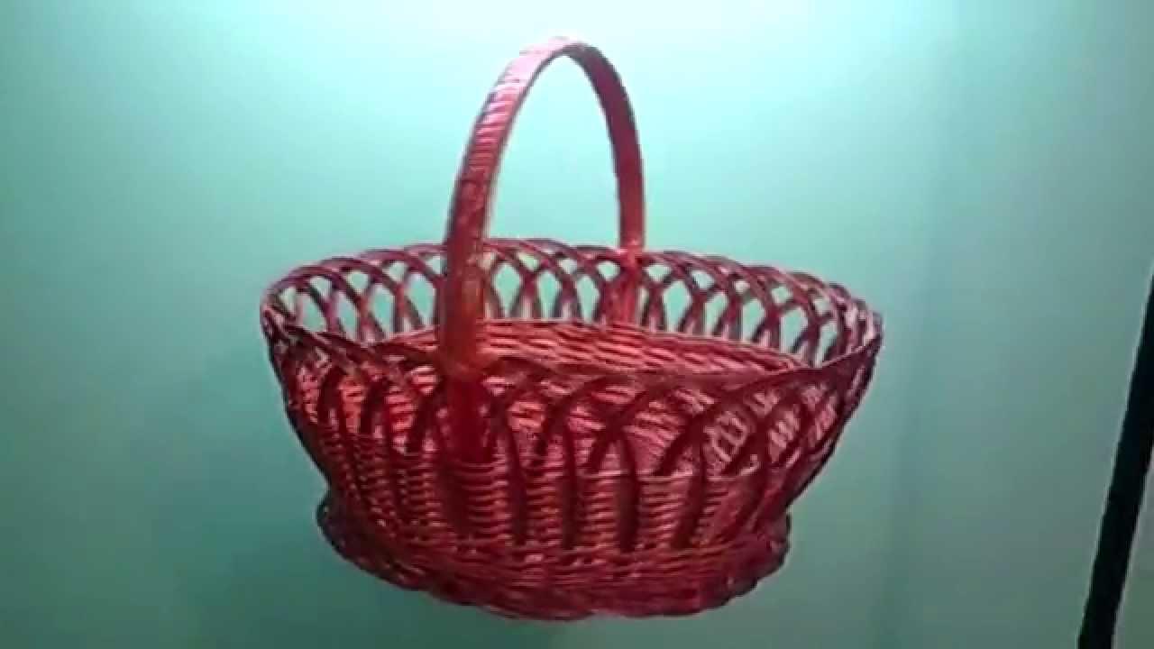 Плетеные корзины Basket - YouTube