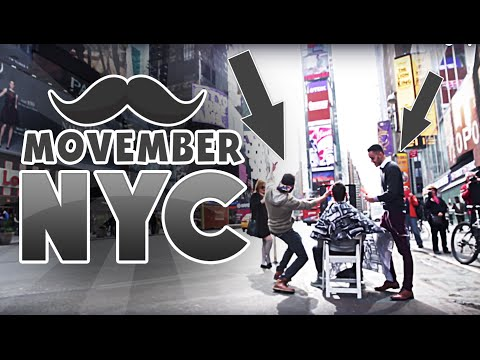 New Yorkers Shave Their Beards For Movember