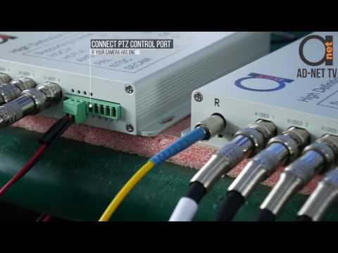 4 ports AHD/TVI/CVI and RS-485 Reverse PTZ control over Fiber Converters