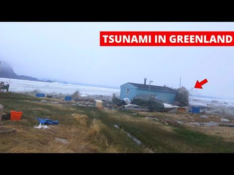 GREENLAND TSUNAMI Hits Village Caught On Camera - Camera 2 (Multiple Clips) | Nuugaatsiaq, Greenland