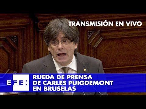 Directo de la rueda de prensa de Puigdemont desde Bruselas
