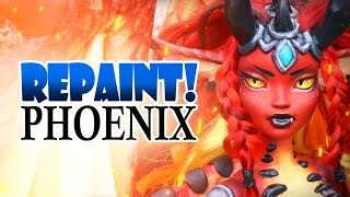 Repaint! Phoenix the Fire Dragon custom OOAK art doll