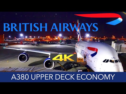 British Airways A380 Upper Deck Economy 4K Trip Report