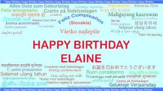 Elaine   Languages Idiomas - Happy Birthday
