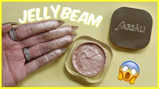 jelly highlighter testing weird makeup   jeffree star