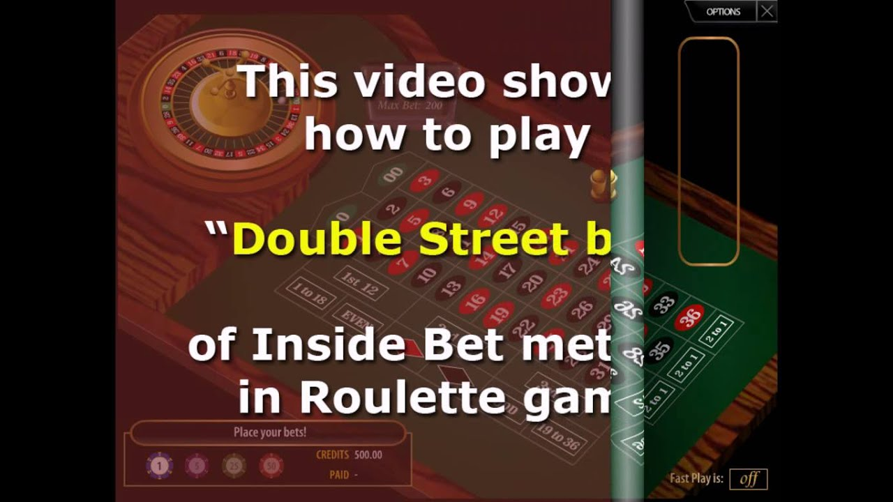 Double bets roulette oakland raiders poker table