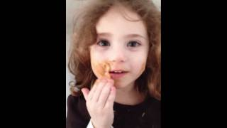 Baby putting peauntbutter on her face !! Too cuteee! Thumbnail