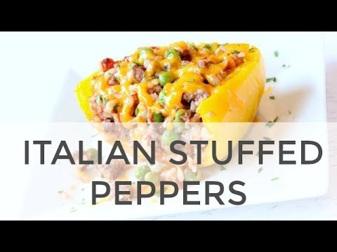 Stuffed Peppers Recipe | How To Make Healthy Italian Stuffed Peppers Recipe
