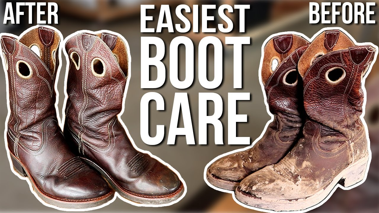How To Clean \u0026 Condition (LEATHER BOOT