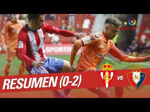 Resumen de Real Sporting vs CA Osasuna (0-2)