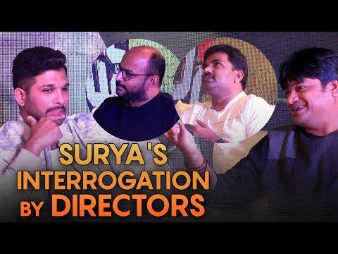 Surya''s interrogation by directors | Allu Arjun interview with Harish Shankar, Maruthi, VI Anand