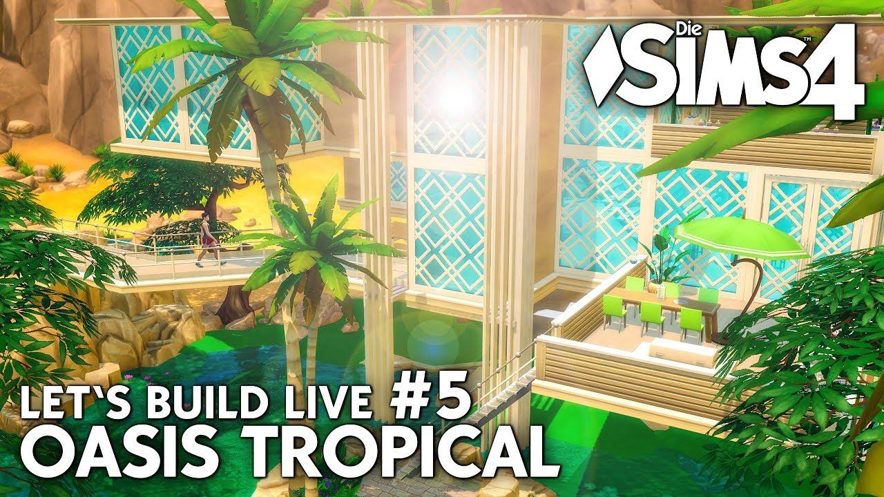 Die sims 4 gaumenfreuden release showcase restaurant gameplay pack - Let S Play Die Sims 4 Live Bauen Einrichten Oasis Tropical 4